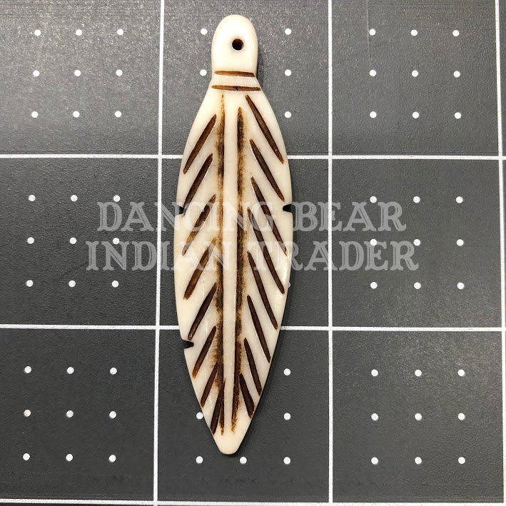 Bone Feather 2.5 distressed, 1pc