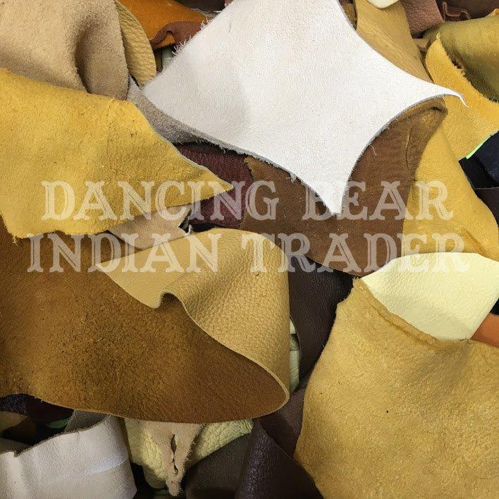 Buckskin Scrap Bag, Small Pieces