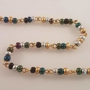 Bead chain Peacock