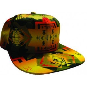 Hat Satin Ball Cap Camo Yellow