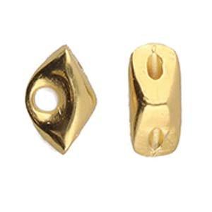 CYM-Tripiti-Diamond Duo Bead Ending-Gold Plate