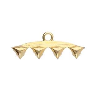 CYM-Vani 4-Diamond Duo Bead Endings Gold Plate