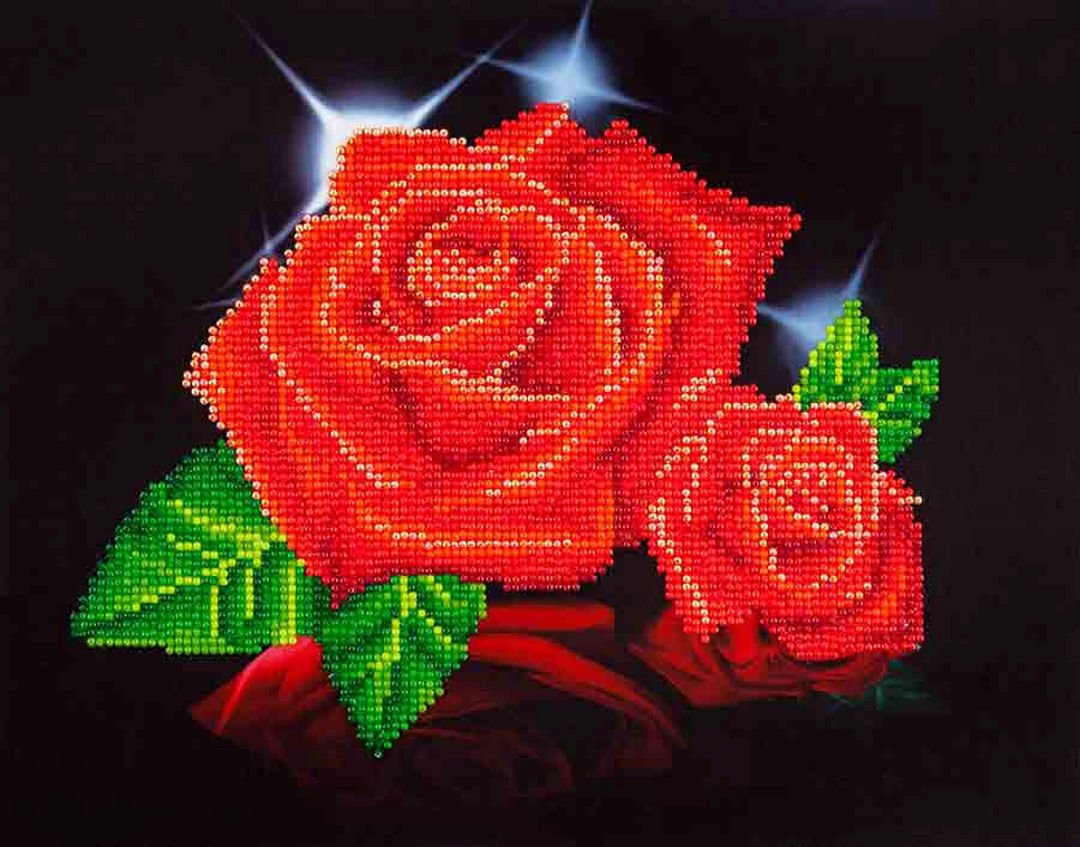 Red Rose Sparkle Diamond Dotz