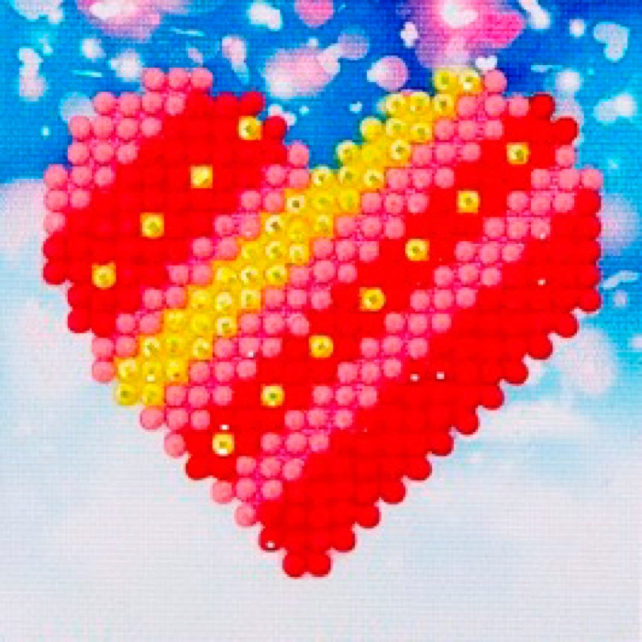 Patchwork Heart Diamond Dotz
