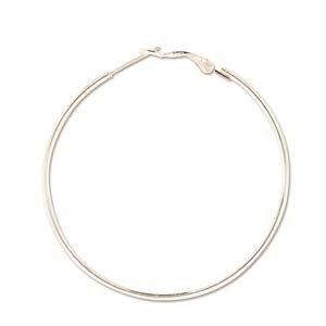 Hoop Earrings 50mm 2 Pairs Silver Plate