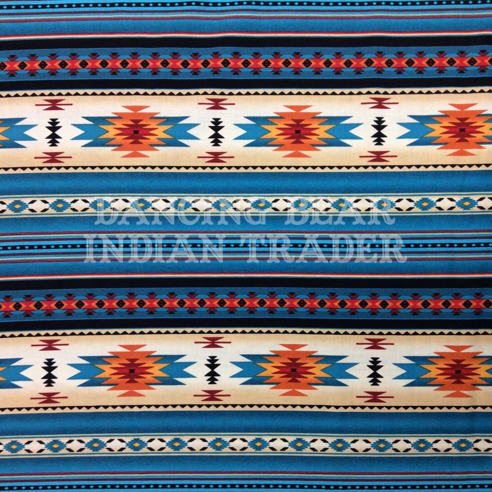 Native Pattern Stripe Turquoise