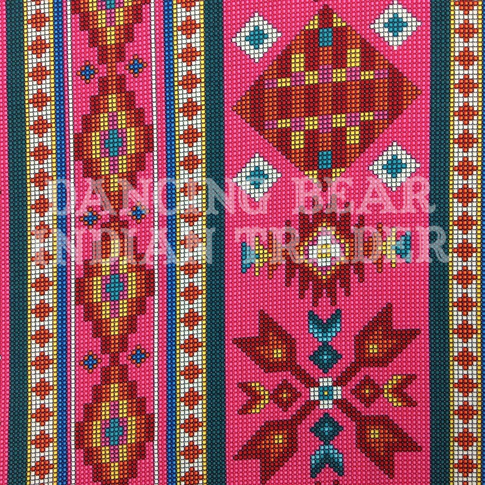 Native Pattern Beaded Stripe Pink