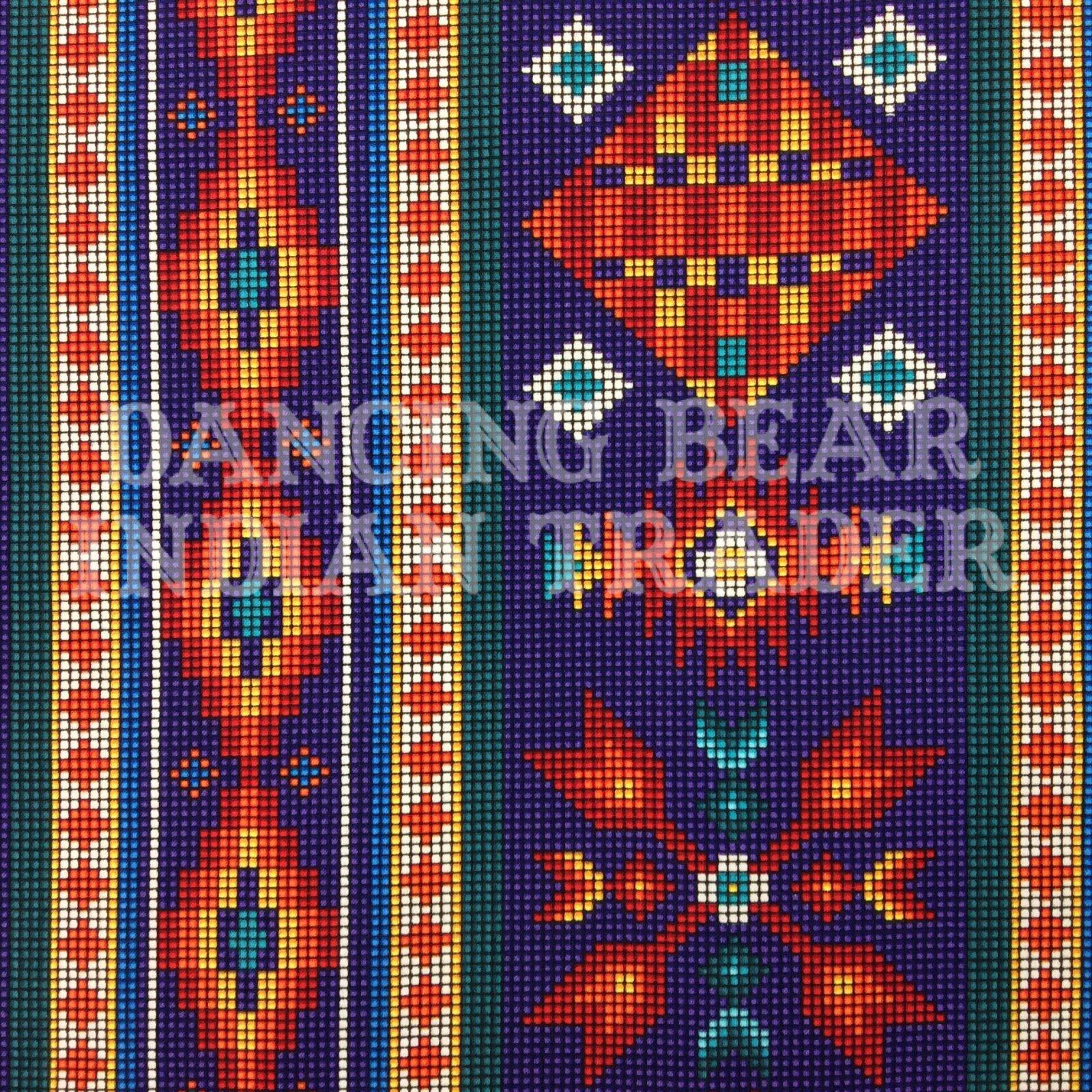 Native Pattern Beaded Stripe Purple