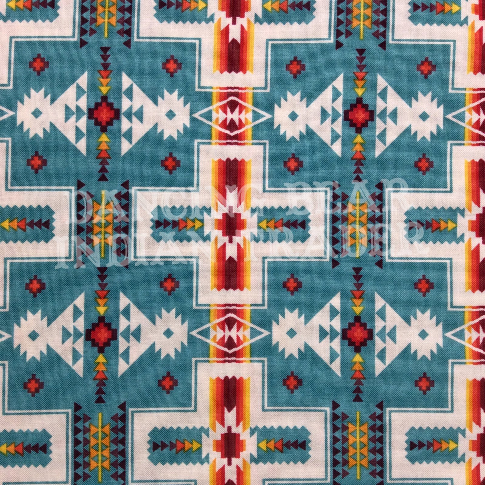 Native Pattern Blanket Turquoise -Back in stock August/September 2020