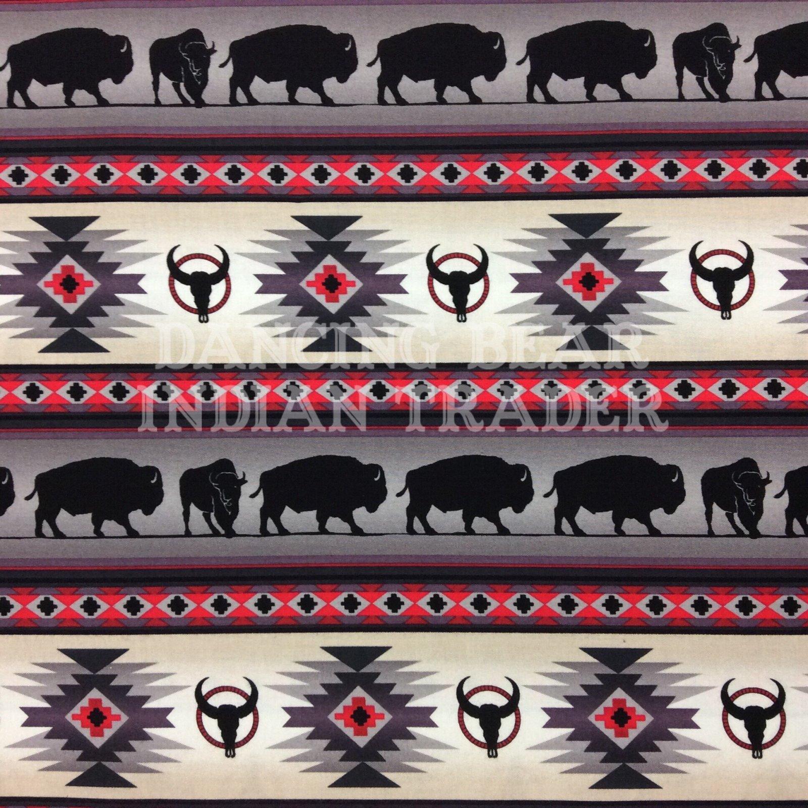 Native Pattern Buffalo Stripe Gray - Back in stock September 2020