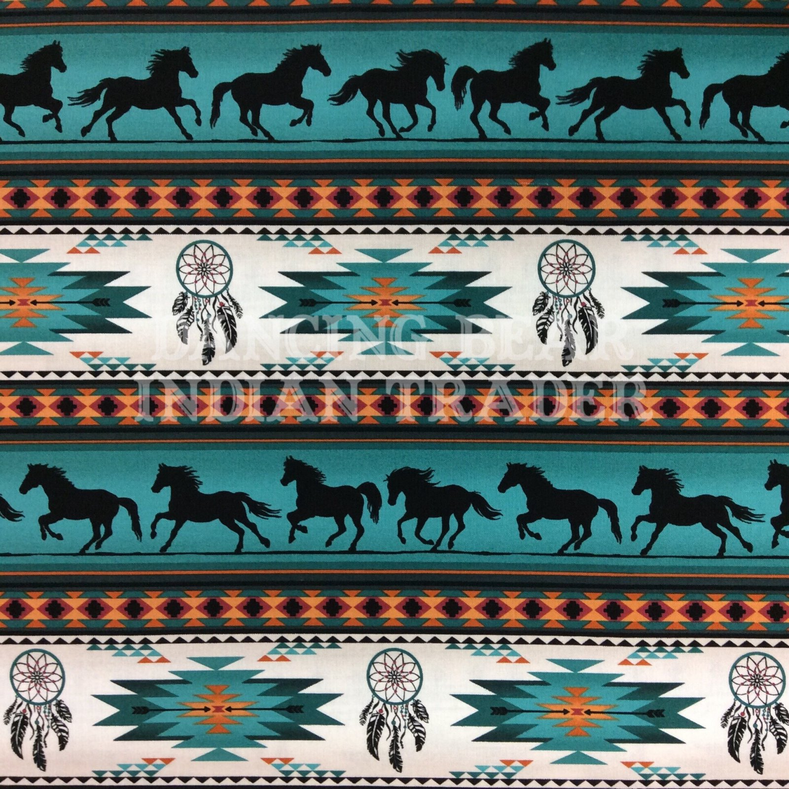 Native Pattern Horse Stripe Turquoise
