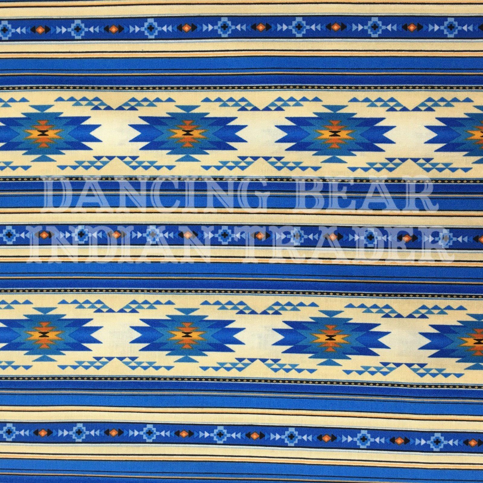 Native Pattern Long Stripe Royal Blue -NEW!