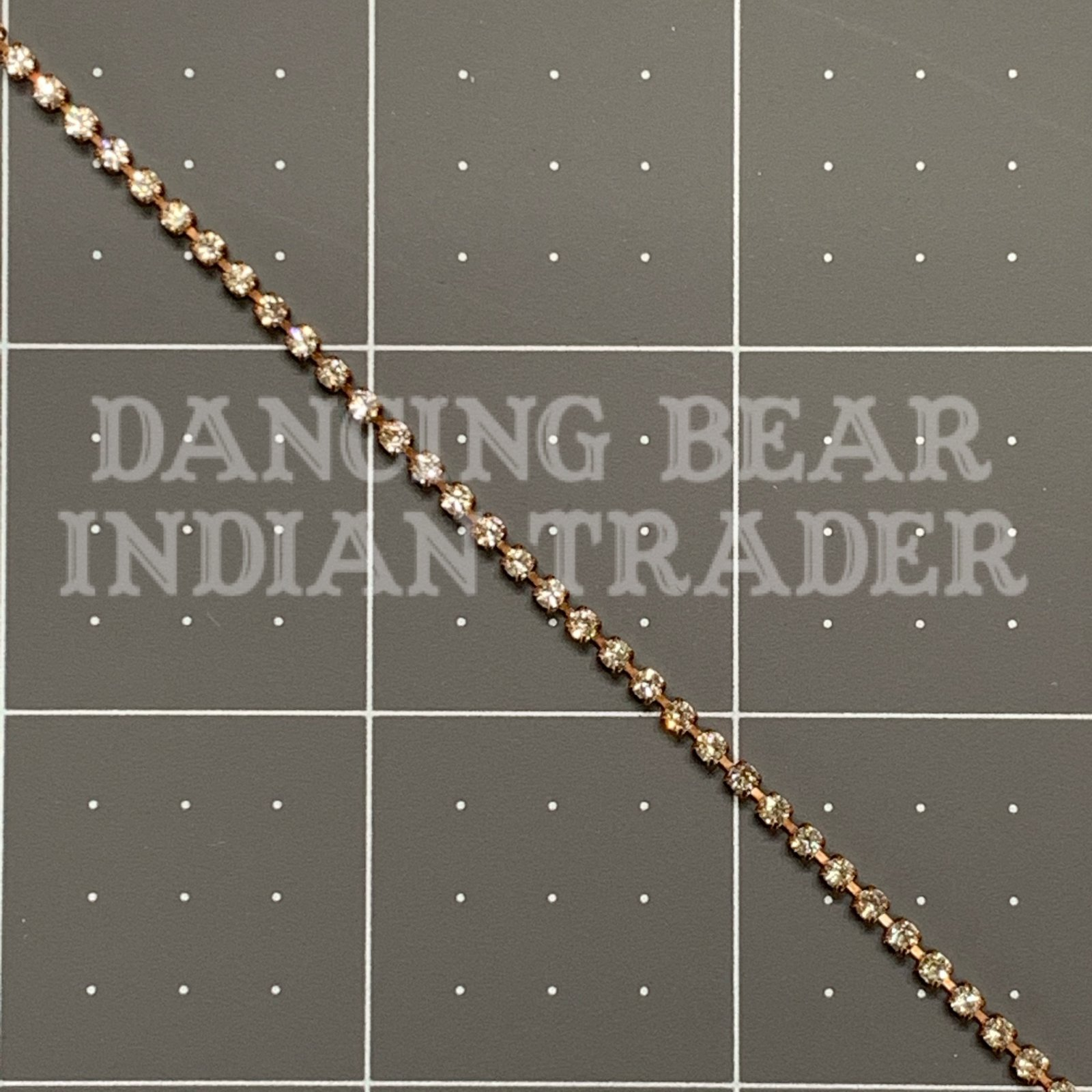 2mm Crystal Antique Copper Cup Chain per foot