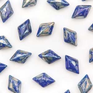 Gemduo 8x5mm Royal Blue Picasso 10gr