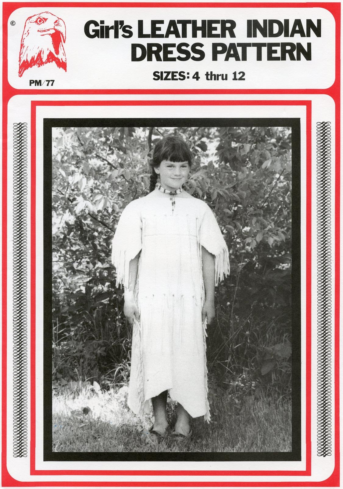 Pattern Girl's Leather Indian Dress