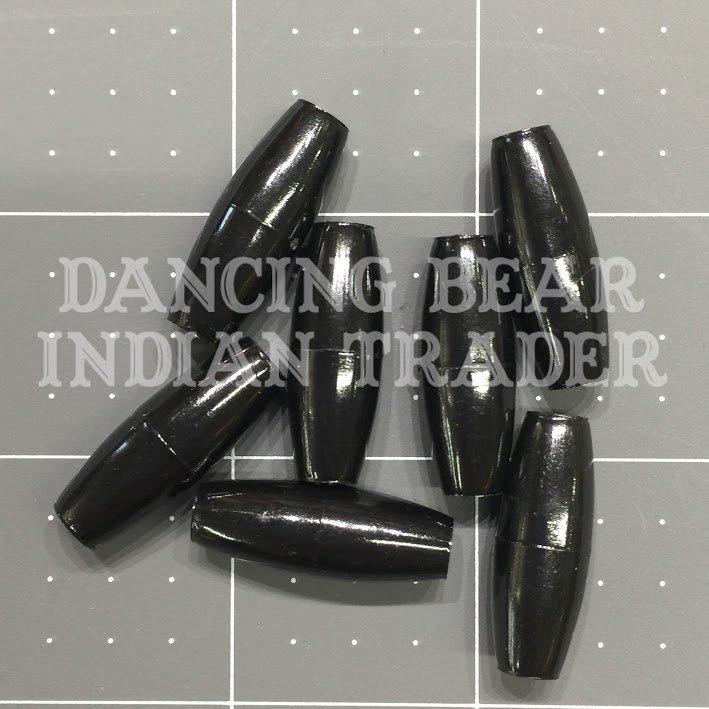 Hairpipe Plastic Black 1 100 pcs