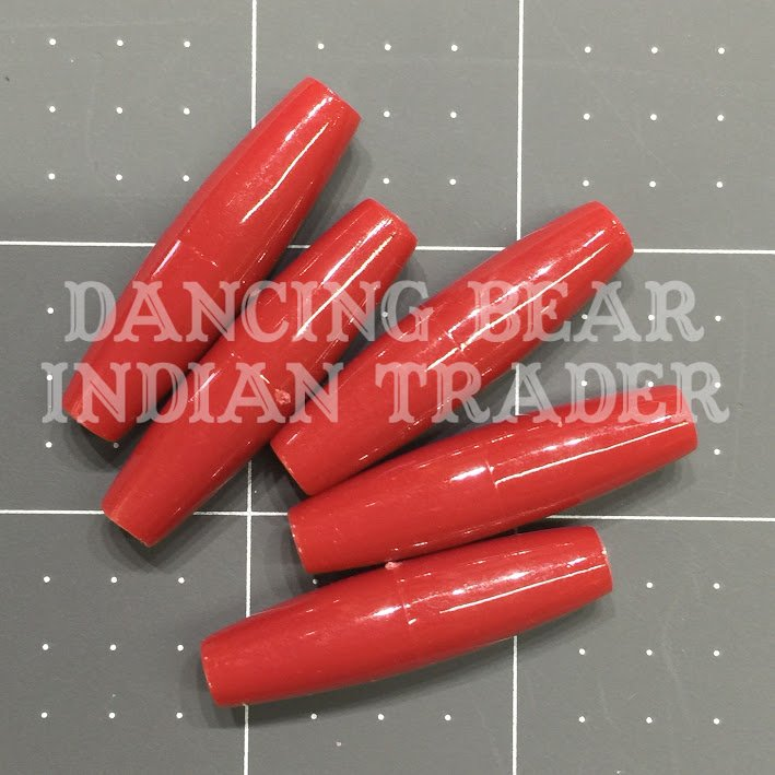 Hairpipe Plastic Red 1.5 100 pcs