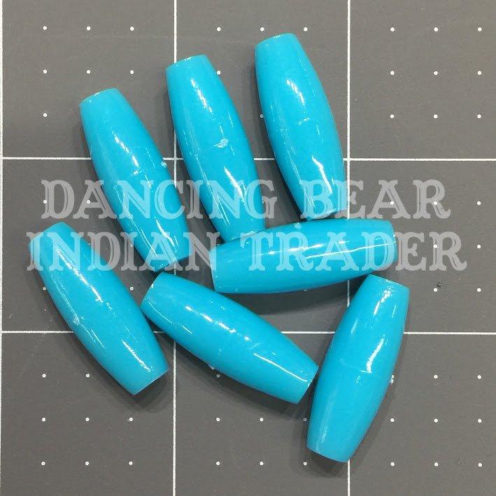 Hairpipe Plastic Turquoise 1 100 pcs