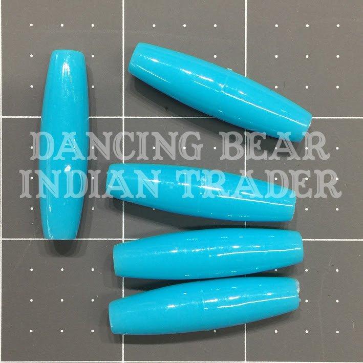 Hairpipe Plastic Turquoise 1.5 100pcs