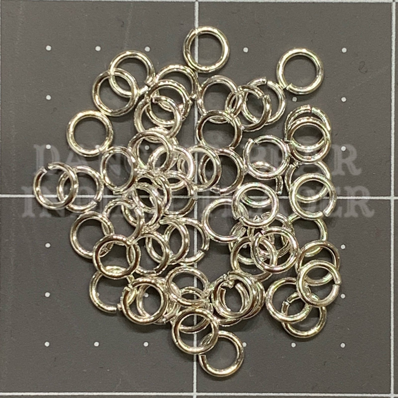 Jump Ring 6mm 18g Silver Plated Hypoallergenic