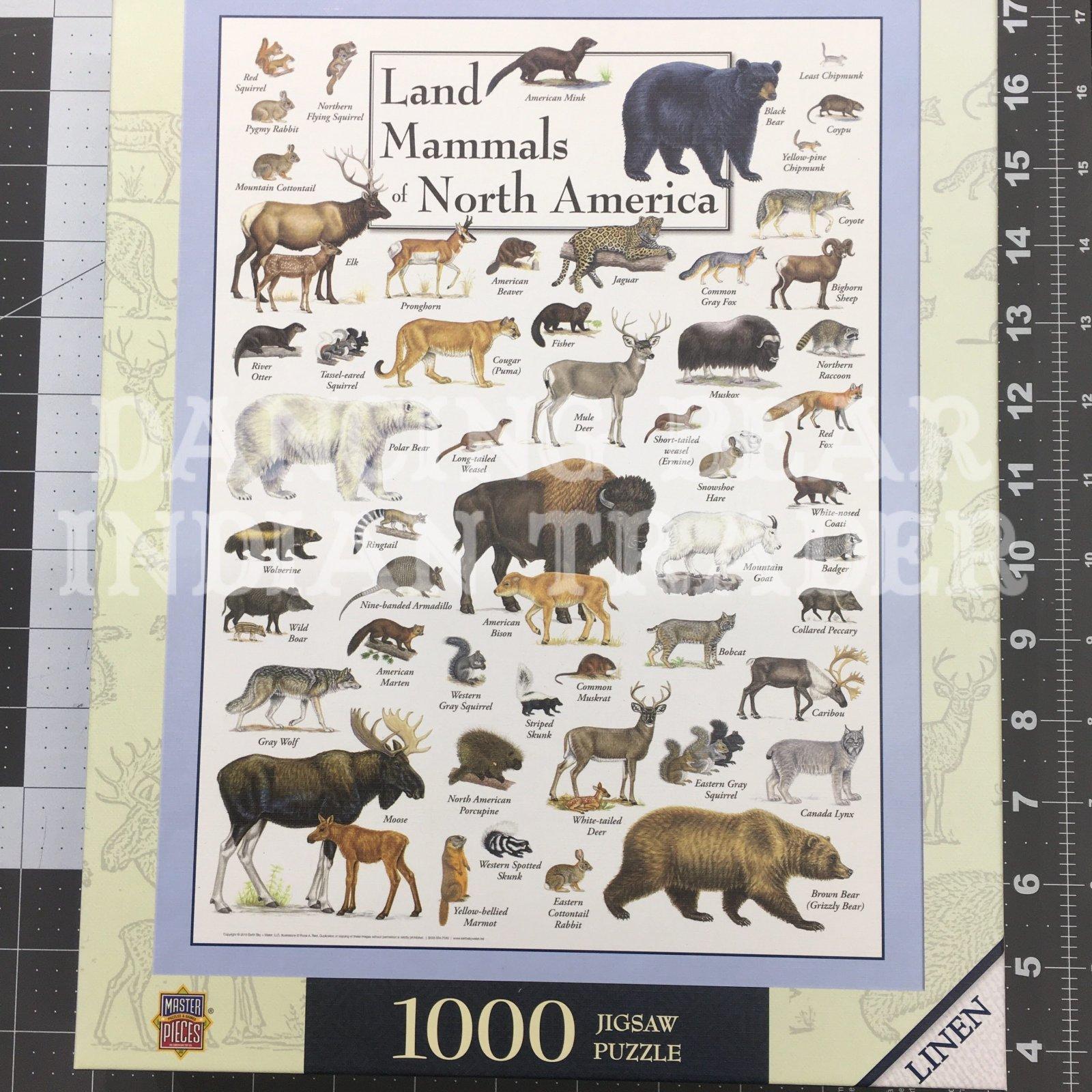 Puzzle Land Mammals Of North America 1000pc