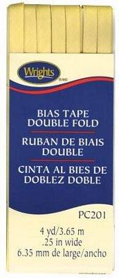 Bias Tape-Double Fold 1/4 Lemon Ice