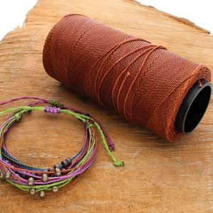 Knot It Waxed Poly Cord Rust 144 Meter Spool