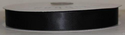 Satin Ribbon 5/8 Black #001 100 yds