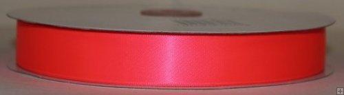 Ribbon 2-058N Neon Pink Satin 50 yards