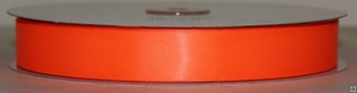 Ribbon 2-120N Neon Orange Satin 50 yards