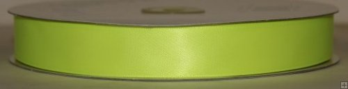 Satin Ribbon 5/8 Neon Yellow #136N 100 yds