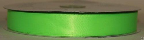 Ribbon 2-198N Neon Green Satin 50 yards