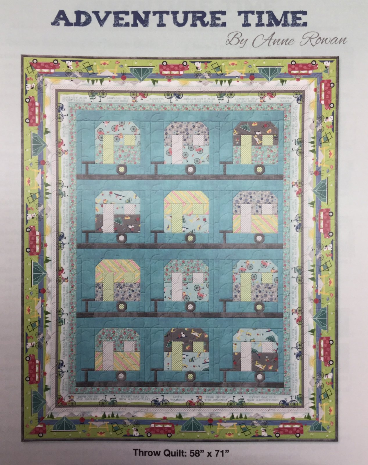 Adventure Time Throw Quilt Kit 58x71