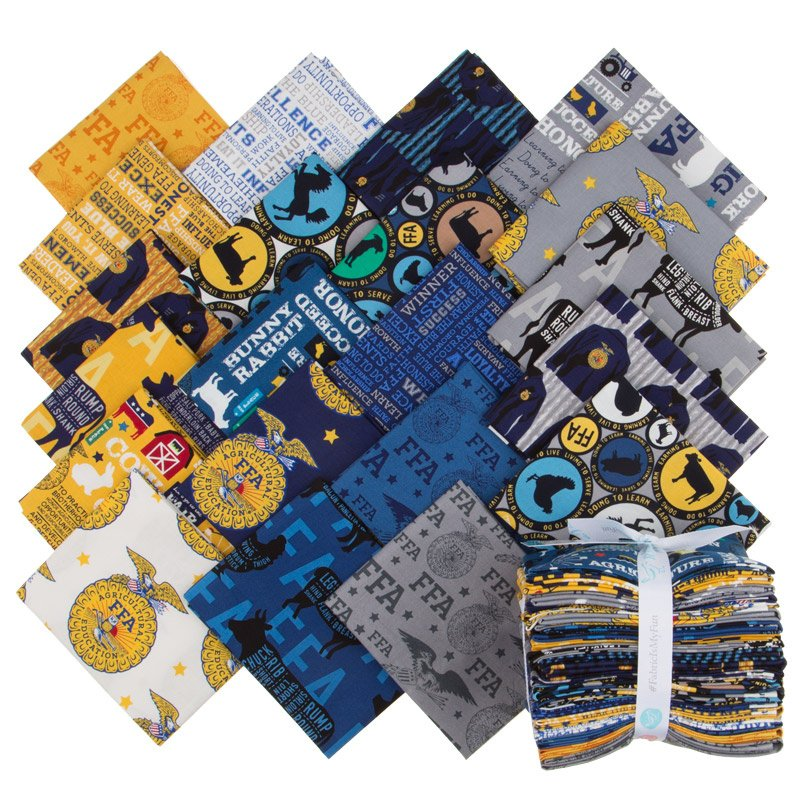FFA Forever Blue Fat Quarter Bundle - 21 Pcs