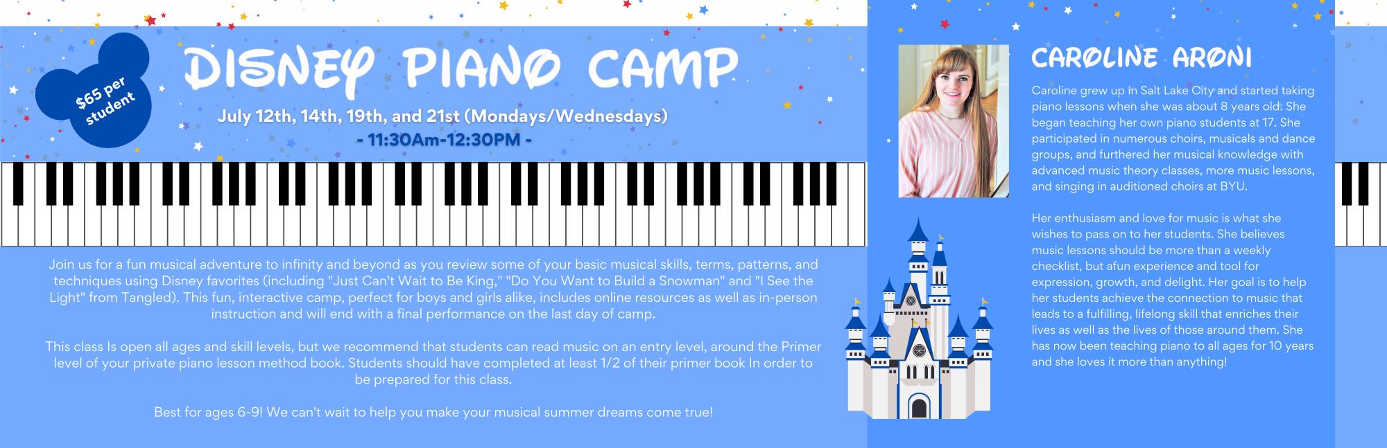 Disney Piano Camp