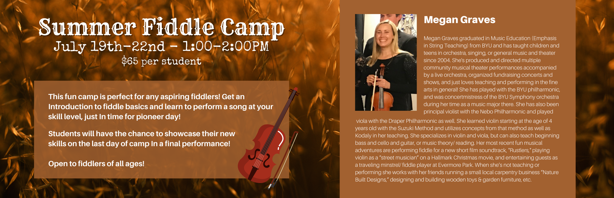 Summer Fiddle Camp