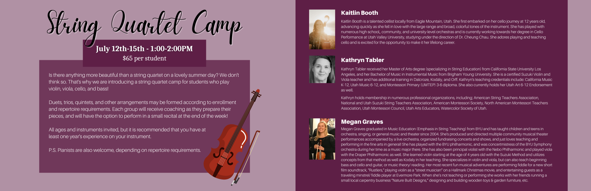 Summer String Quartet Camp