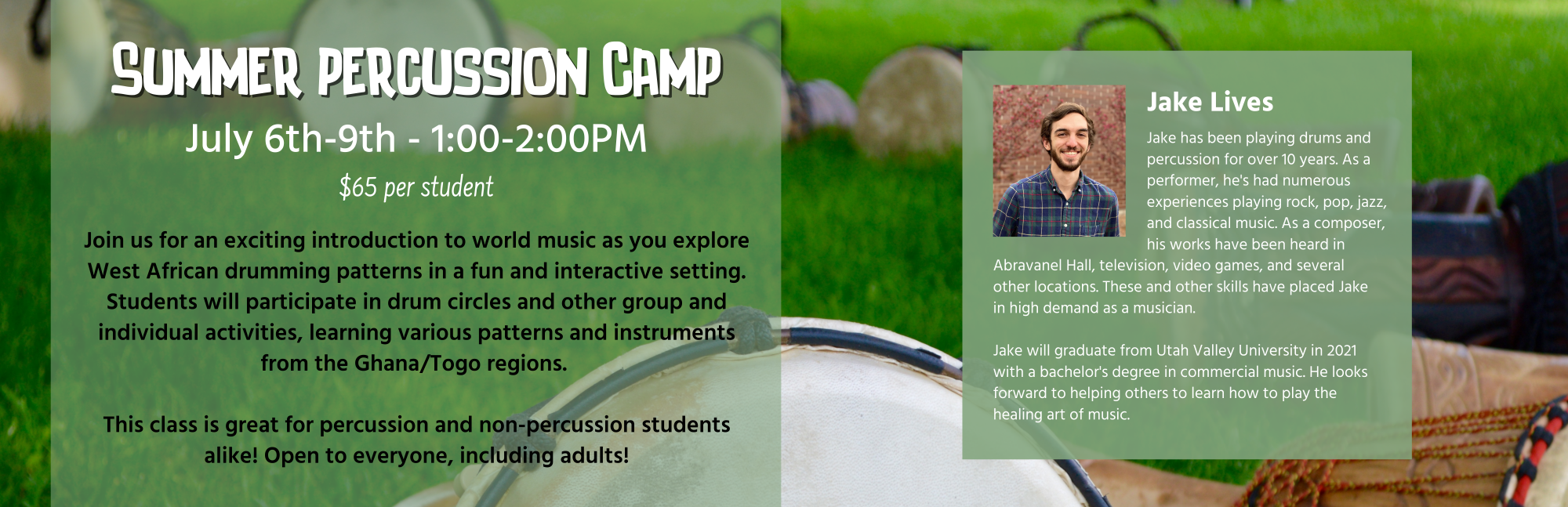 Summer Percussion Camp