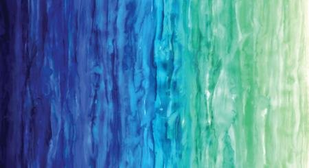 Moda Basic Digital Watercolor Waves Light Blue