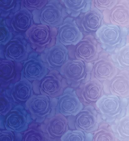 Moda Basic Digital Roses Light Blue