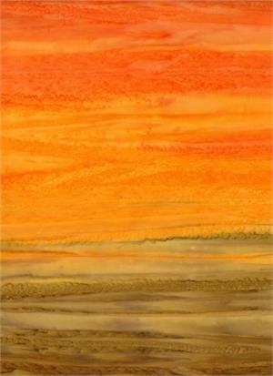Batik Textiles Orange Stripe