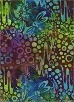 Batik Venus, Cattails, & Moon Bayou - Pink & Lime Green