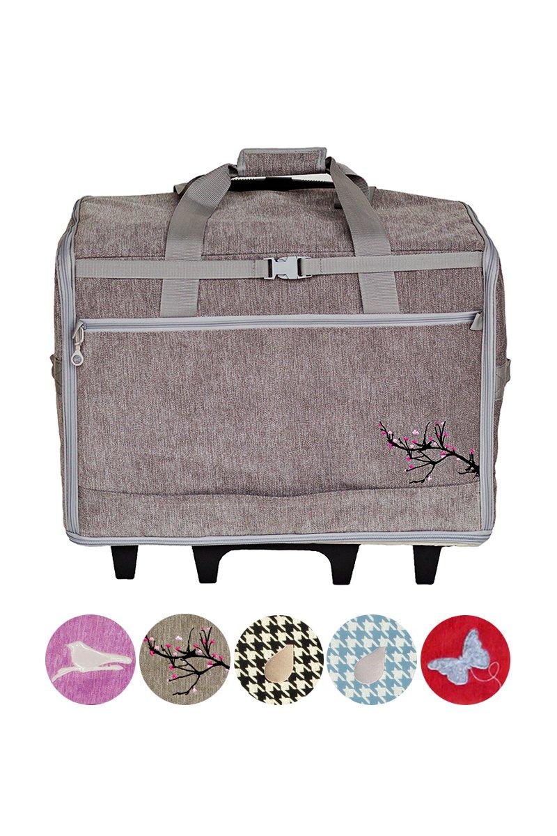 Bluefig Blossom  Designer Series 23 Wheeled Sewing Machine Carrier, DS23 - Blossom