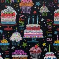 Happy Birthday - Black
