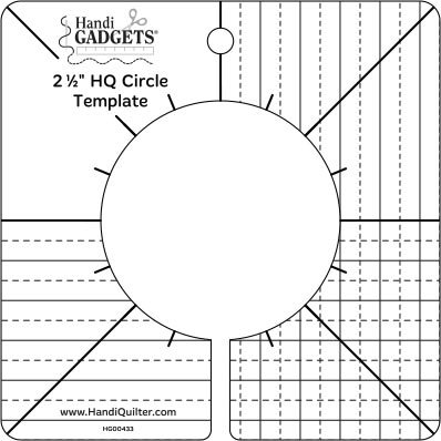 Handi Quilter Ruler 2.5 inch Circle Template