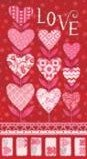 Love Grows Panel  Romantic Red