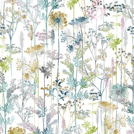 Hoffman Spring Silver Floral
