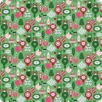 Riley Blake Merry & Bright Ornaments Ltgreen