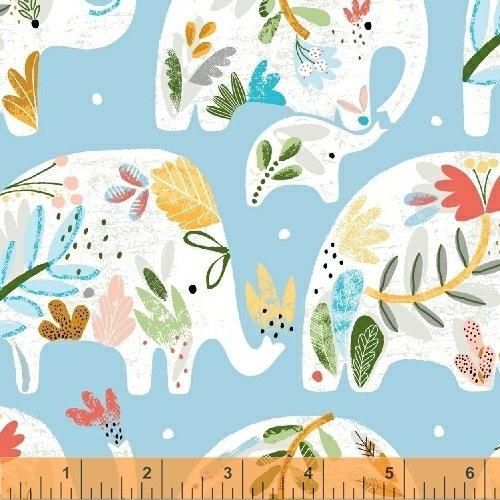 Ellie by Whistler Studio Floral Elephants Blue