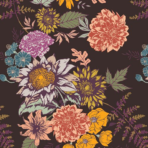 Autumn Vibe Floral Glow Cocoa